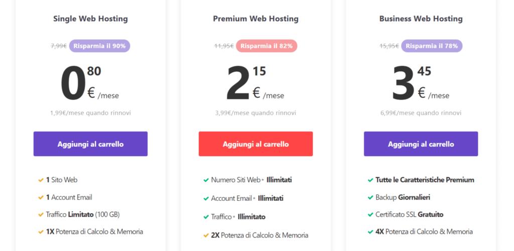 recensione hostinger prezzi